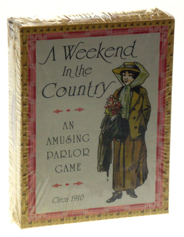 FG & Co A Weekend In The Country An Amusing Parlor Card Game Printed USA