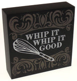 Prinz Whip It Good Plaque Home Decor Kitchen Wall Hanging Sign Quote Whisk - FUNsational Finds - 2
