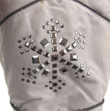 Joe Boxer Womens White Mittens Silver Snowflake 3M 40g Thinsulate Snow Winter - FUNsational Finds - 3