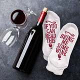 Wine Socks If You Can Read This Bring Me Some Wine Non Slip Low Cut Half Cushion