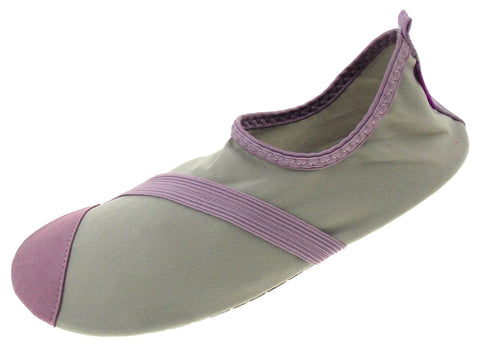 FitKicks Gray Purple Womens XL Active Lifestyle Footwear Shoes 10-11 Flex Sole - FUNsational Finds - 1