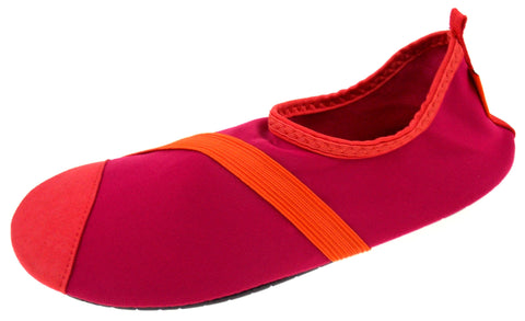 FitKicks Fuchsia Orange Womens XL Pink Active Lifestyle Footwear Shoe 10-11 Walk - FUNsational Finds - 1