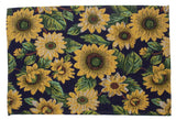 Set 4 Placemats Yellow Flower Theme 13x19 Kitchen Table Fabric Tapestry Dining