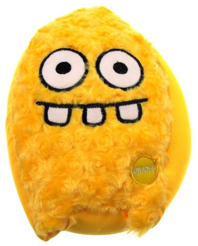 "Yellow Rocket Head Pillow Color LED Light Up Flash Plush 10"" Microbeads Decor - FUNsational Finds - 1"