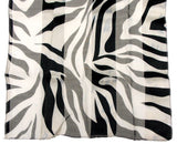 Zebra Scarf Ladies Gift Boxed Lot 2 Black White Polyester 13x60 Wrap Sheer Light - FUNsational Finds - 4