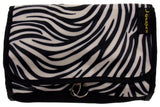 Cosmetic Makeup Bag Black White Zebra Travel Kit Folding Pouch Organizer Case - FUNsational Finds - 1