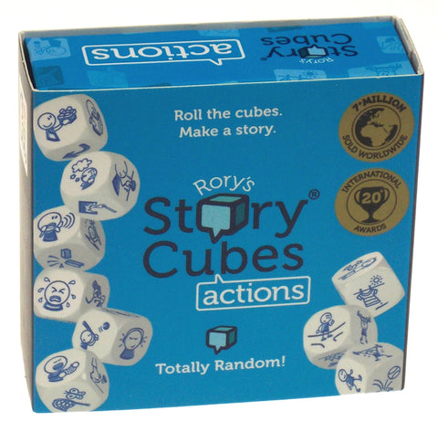 Rory's Story Cubes Actions Blue Set 9 Cubes 54 Images Family Game Education Kids