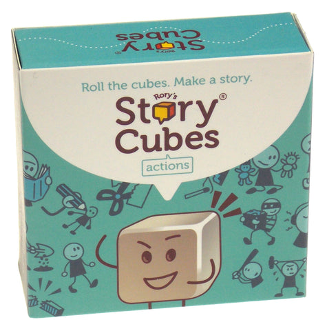 Rorys Story Cubes Actions Zygomatic Set 9 Cubes 54 Images Family Game Education