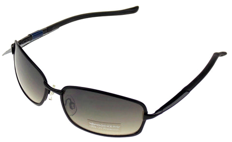 Levi Strauss DOCKERS Sunglasses 100% UV Womens Oval Black Gray Metal 58-17-140 - FUNsational Finds - 1