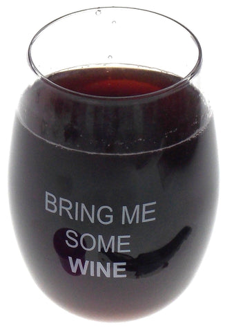 GoVino Bring Me Some Wine Lot 4 Acrylic Wine Glasses 16 oz Flexible Shatterproof