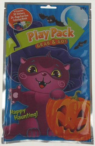 Happy Haunting Play Pack Grab Go Set 12 Coloring Book Crayons Stickers Halloween - FUNsational Finds - 1