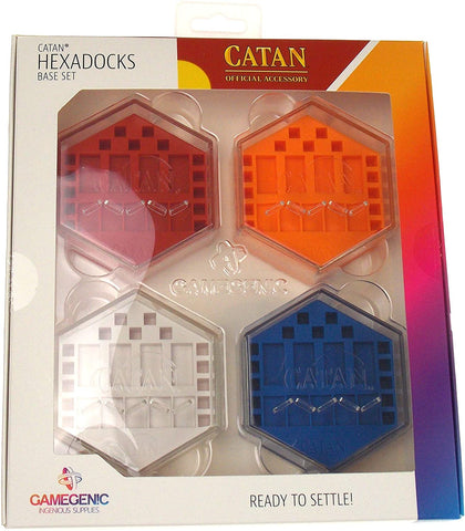 Gamegenic Catan Hexadocks Base Set Storage Box 2-4 Players Red Blue White Orange