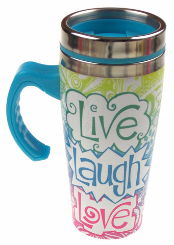 Live Laugh Love Coffee Travel Mug 16oz Stainless