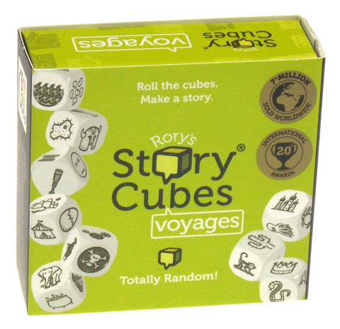 Rorys Story Cubes Voyages Green Set 9 Cubes 54 Images Family Game Education Kids