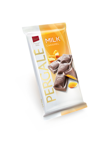 Pergale Milk Chocolate with Caramel Filling 100g