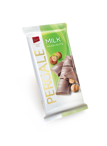 Pergale Milk Chocolate with Whole Hazelnuts 100g