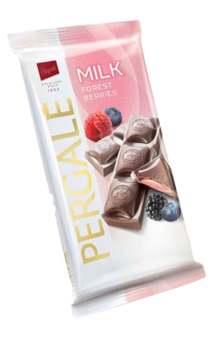 Pergale Milk Chocolate with Forest Berries Filling 100g