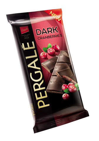 Pergale Dark Chocolate with Cranberry Filling 100g