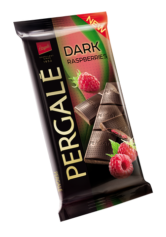 Pergale Dark Chocolate with Raspberry Filling 100g