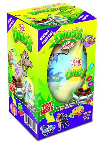 ANL Dino Double Surprise Choco Egg