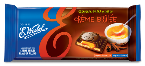 Dark Chocolate w/ Creme Brulee Filling 100g