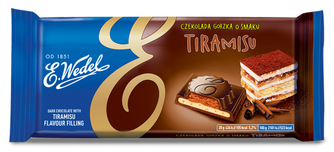Dark Chocolate w/ Tiramisu Filling 100g