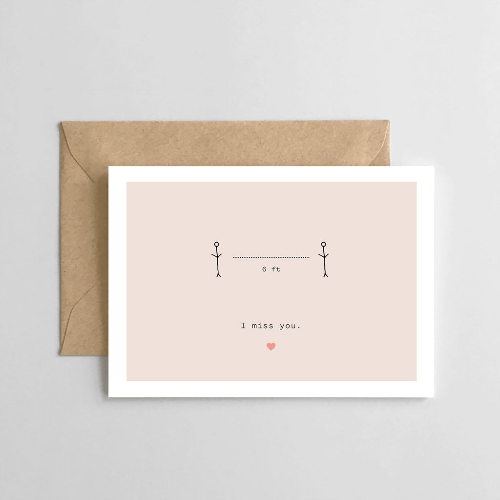 I Miss You- Greeting Card