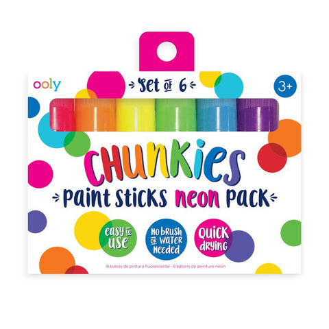 Chunkies 6 Pack of Neon Paint Sticks