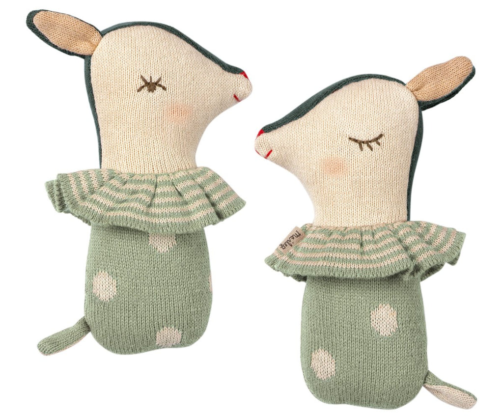 Dusty Mint Bambi Rattle