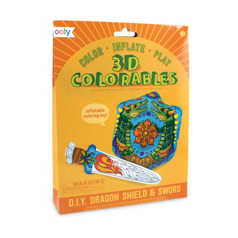 3D Colorables: Dragon Shield and Sword Coloring Toys