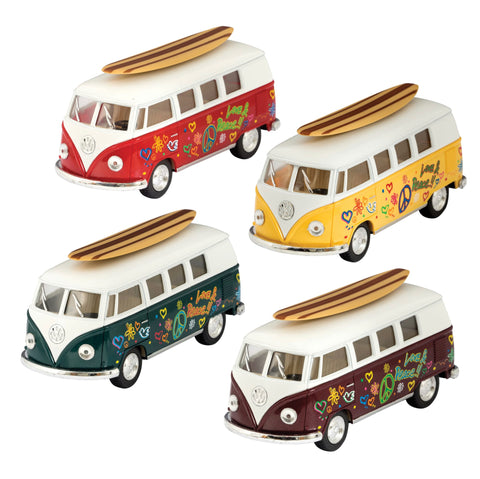 Diecast 62' VW Bus and Surfboard