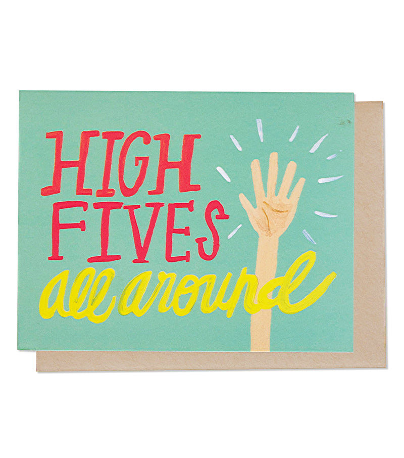 High Fives All Around Greeting Card