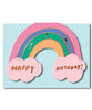 Rainbow Shaped Birthday Card