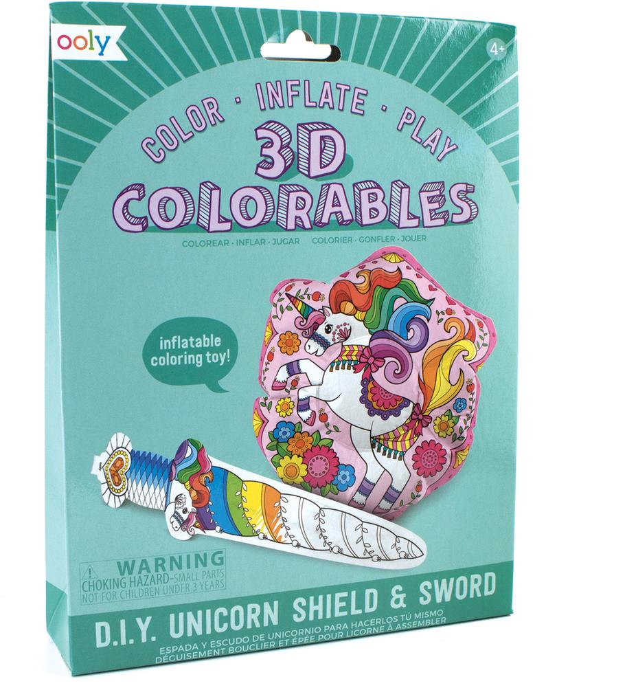 3D Colorables: Unicorn Sword and Shield
