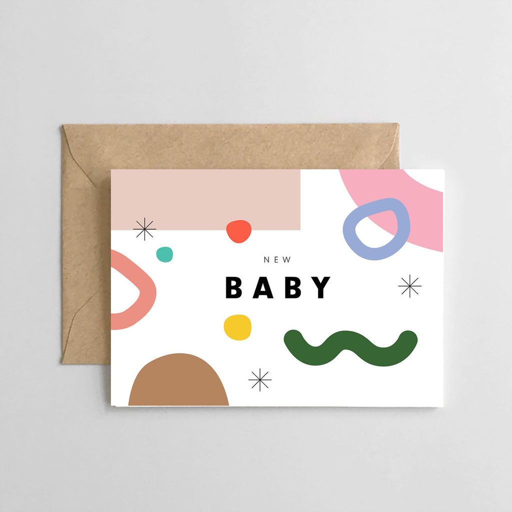 New Baby Abstract- Greeting Card