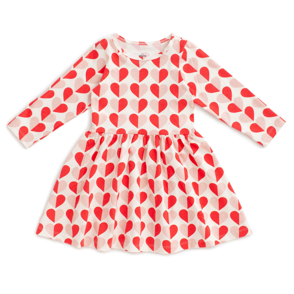 Red + Pink Hearts Calgary Dress