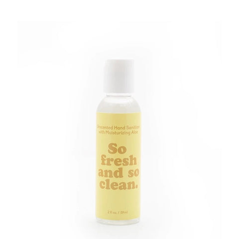 So Fresh and So Clean Unscented Gel Hand Sanitizer- 2oz