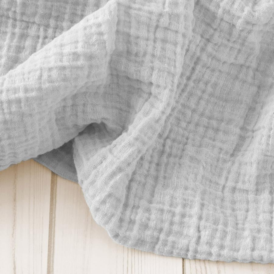 Light Grey Cotton Muslin Swaddle