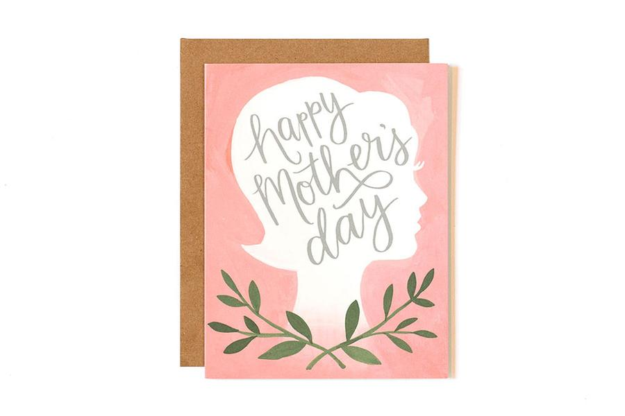 Mother's Day Silhouette Card