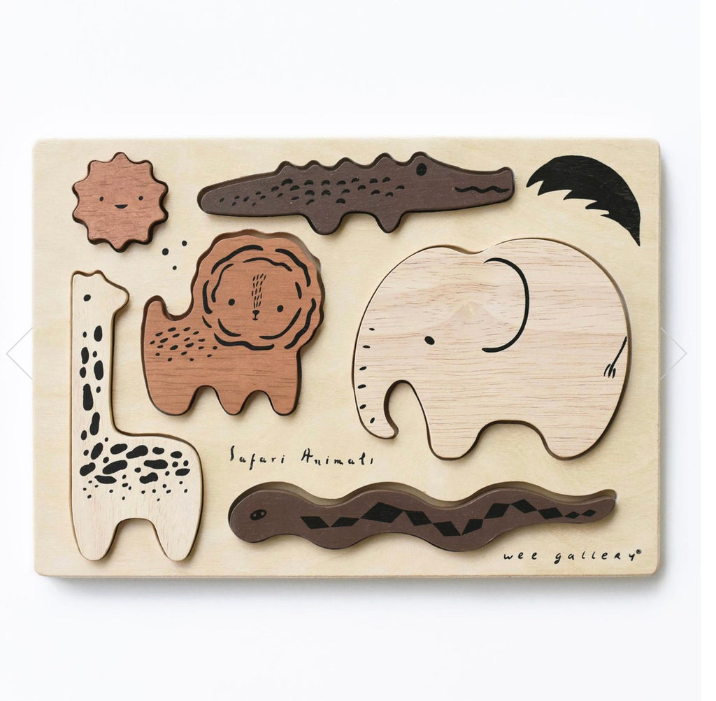 Wooden Tray Puzzle- Safari Animals