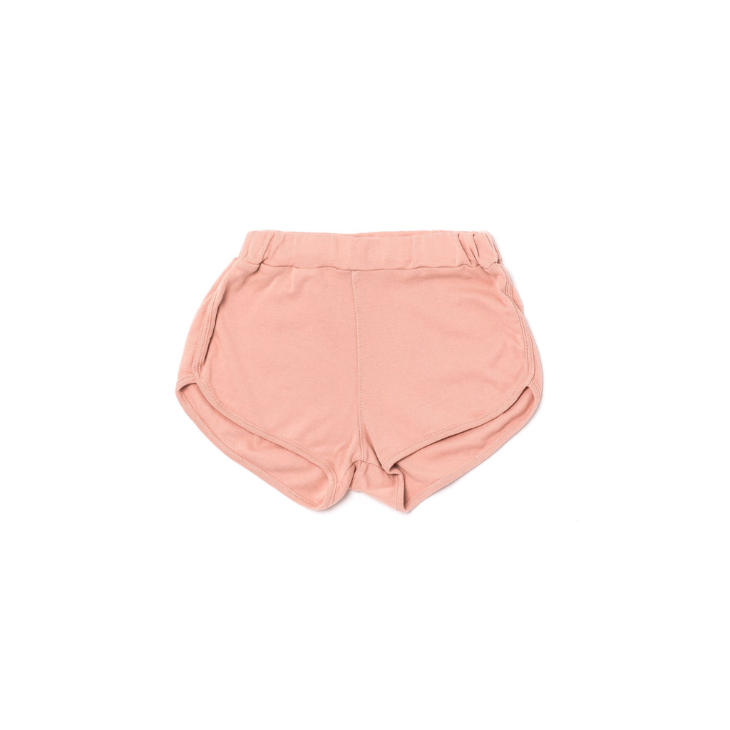 track shorts in blush