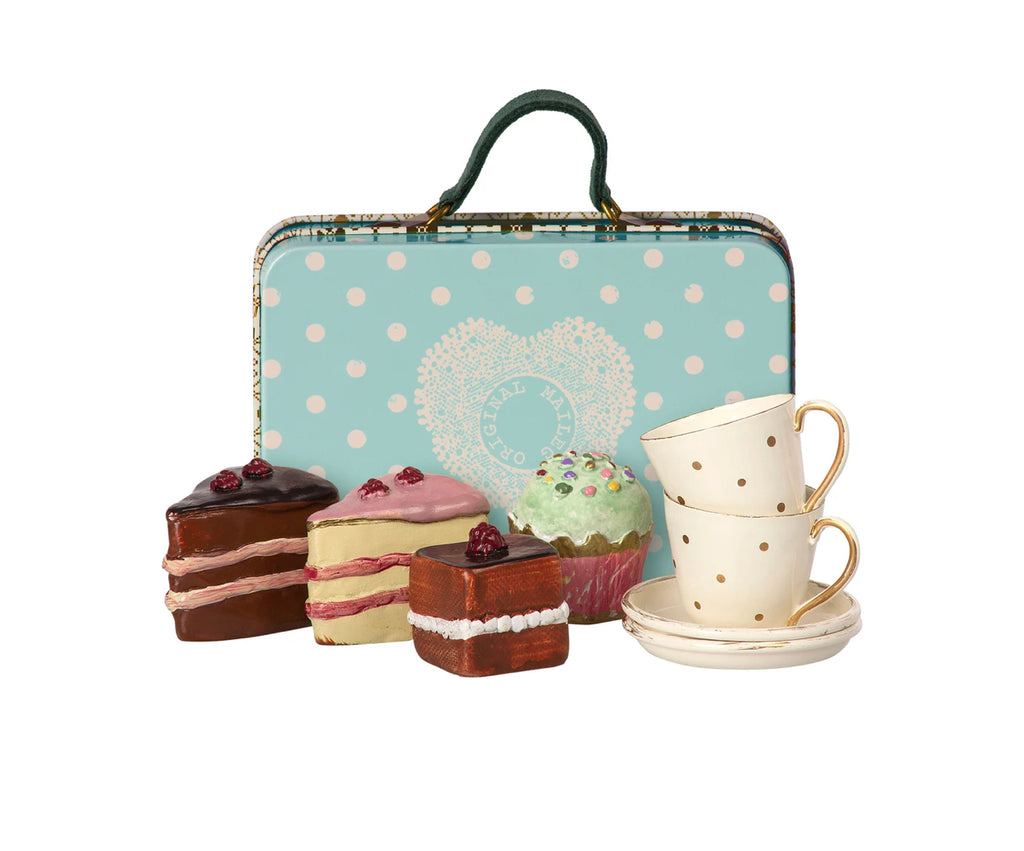 Suitcase and Cakes for Two