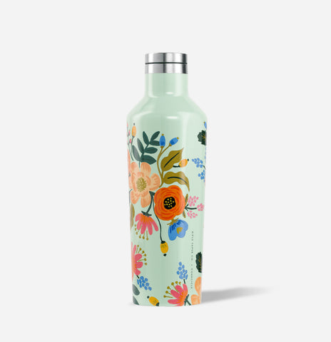 Rifle Paper Co. Lively Mint Floral Canteen- 16oz