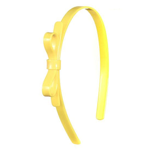 Thin Bow Yellow Headband
