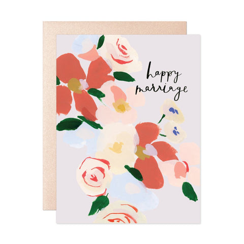 Happy Marriage Bouquet Greeting Card