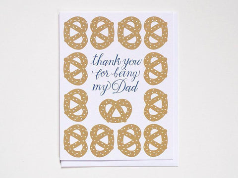 Thanks Dad Pretzel- Greeting Card