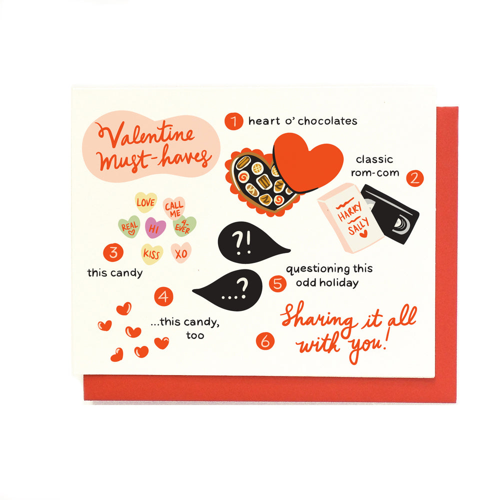 Valentine Must-Haves Greeting Card