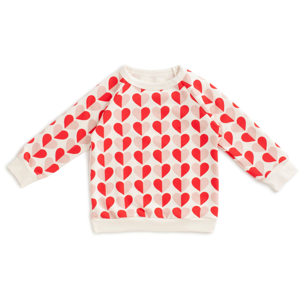 Red + Pink Hearts Sweatshirt