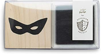 superhero rubber stamp