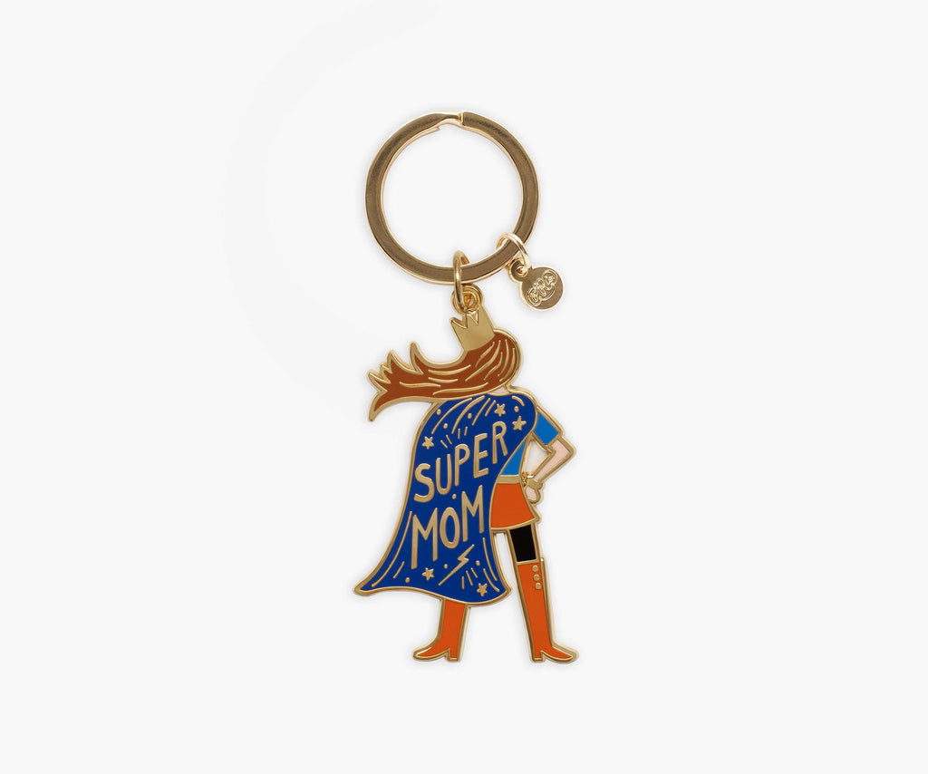 Super Mom Enamel Keychain